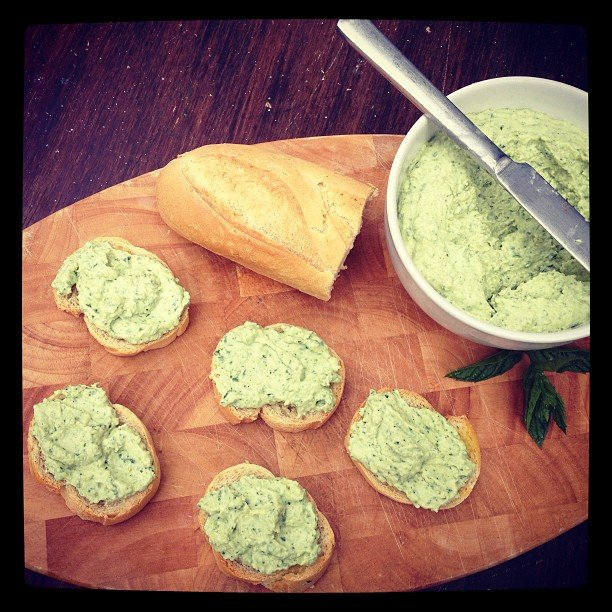 Broad Bean, Mint and Spring Onion Pate